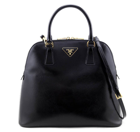 Authentic Prada centered logo