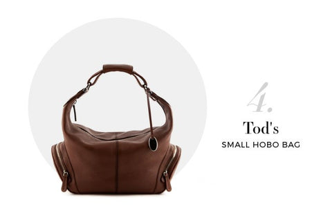 Tod's Brown Pebbled Leather Small Hobo