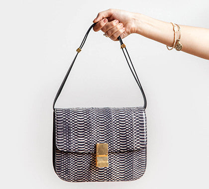 Celine Box Bag in an exotic Watersnake Leather