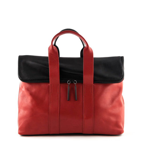 63e7f84c8615 3.1 Phillip Lim Red   Black 31 Hour Tote - LOVE that BAG - Preowned  Authentic