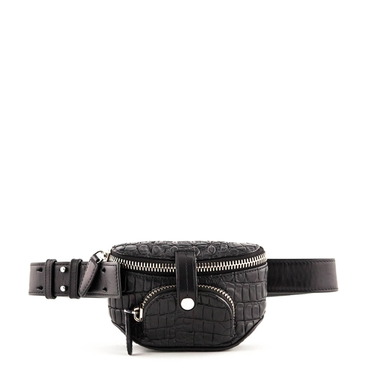 Alexander Wang Black Alligator Embossed Dumbo Waist Bag - LOVE that BAG -  Preowned Authentic Designer ...