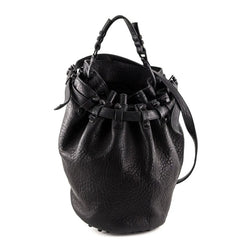 Alexander Wang Black Textured Leather Diego Bucket Bag - 1