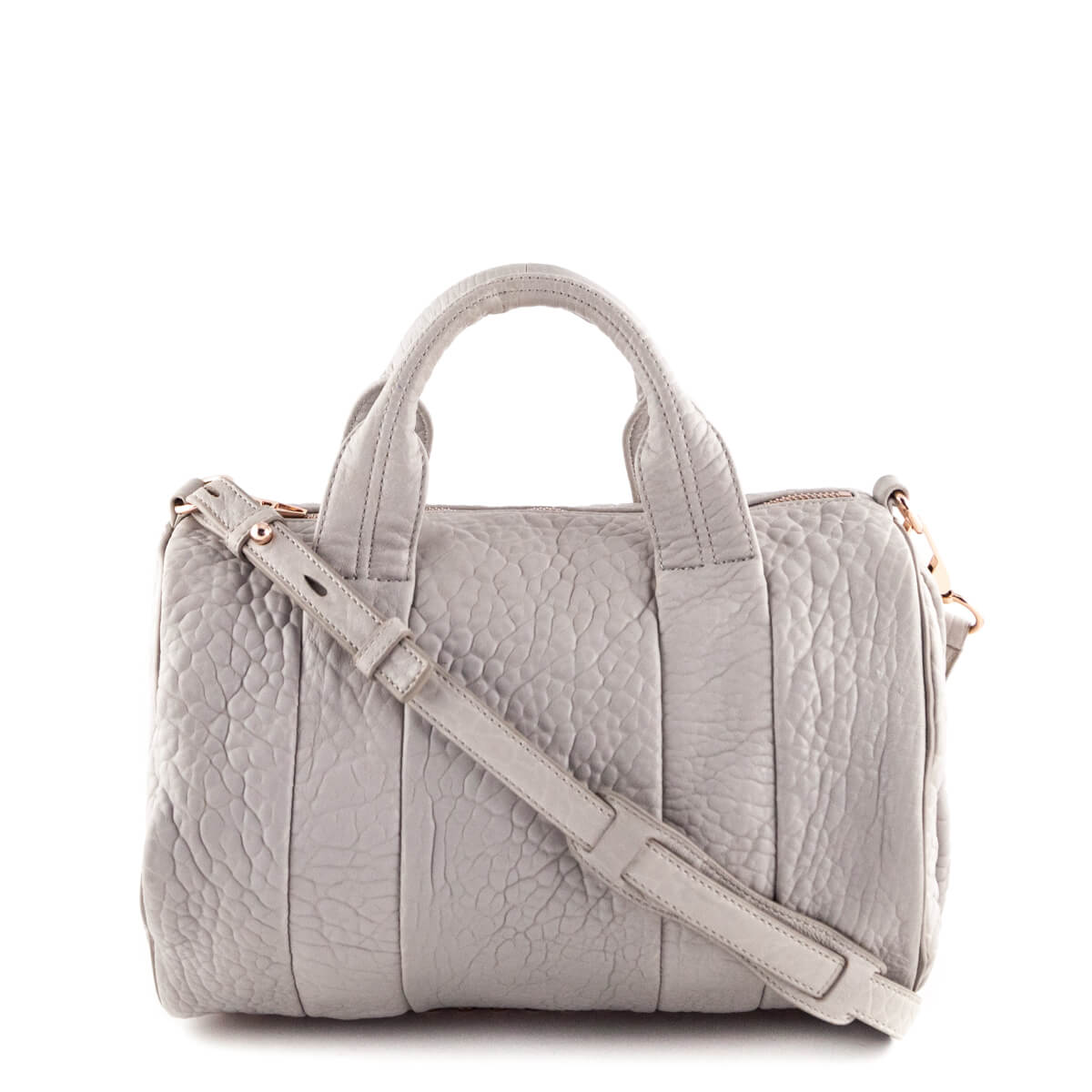 Alexander Wang Gray Rocco with Rose Gold Hardware - Preowned Designer