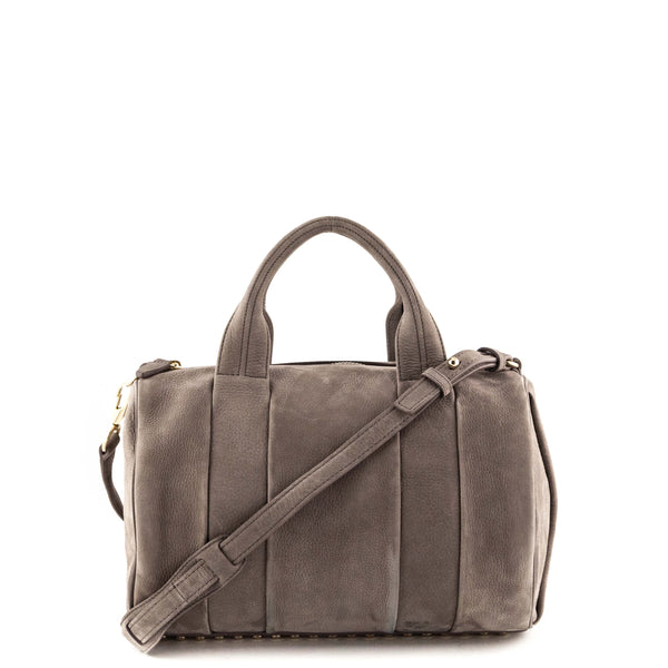 cdb1d5fb99cc Alexander Wang Taupe Nubuck Rocco GHW - LOVE that BAG - Preowned Authentic  Designer Handbags