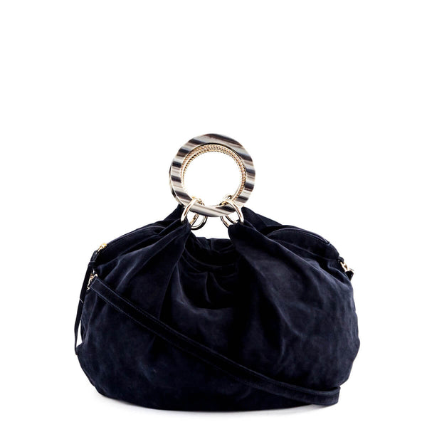 1e05d000eece Almala Firenze Navy Suede Convertible Bag - LOVE that BAG - Preowned  Authentic Designer Handbags
