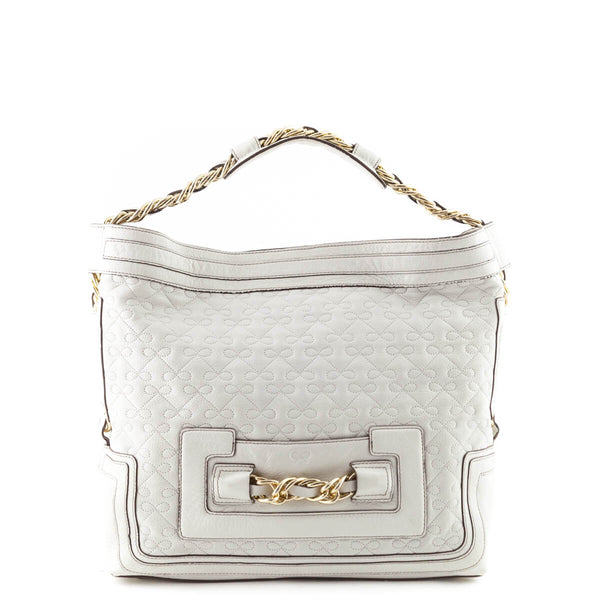 0527f350adac Anya Hindmarch Cream Quilted Leather Shoulder Bag - LOVE that BAG - Preowned  Authentic Designer Handbags