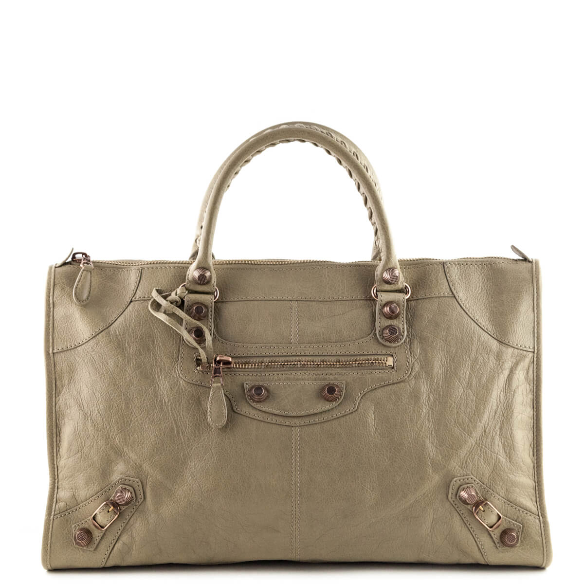b26416ab06d2d Balenciaga Beige Giant 21 Rose Gold Work bag - LOVE that BAG - Preowned  Authentic Designer ...