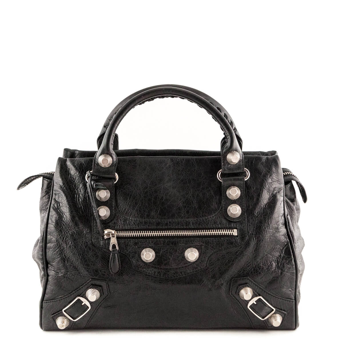 bc6eaa20230f Balenciaga Black Lambskin Giant 21 Midday Silver - LOVE that BAG - Preowned  Authentic Designer Handbags ...