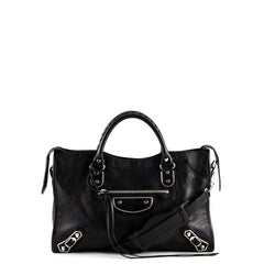 Balenciaga Black Metallic Edge Chevre City