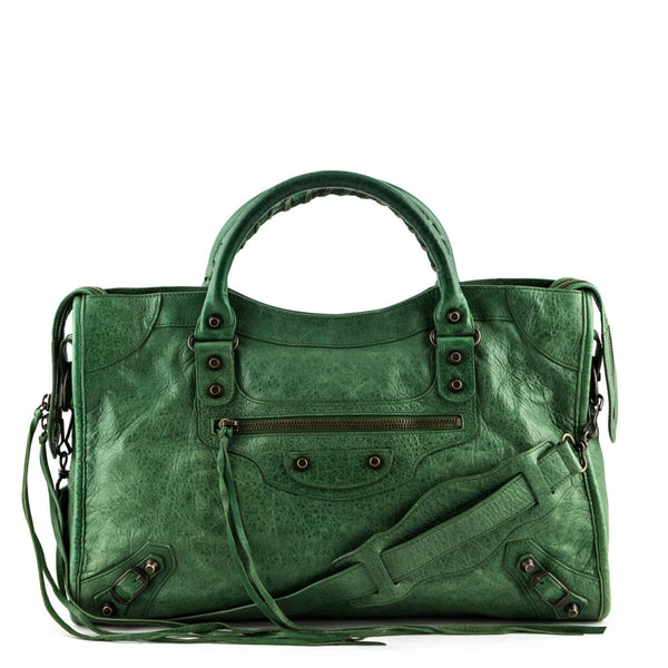 784eac30a5 Balenciaga Cypress Lambskin Motocross Classic City Bag - LOVE that BAG -  Preowned Authentic Designer Handbags