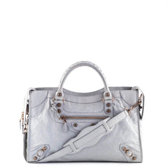 Balenciaga Dove Gray Lambskin City Bag