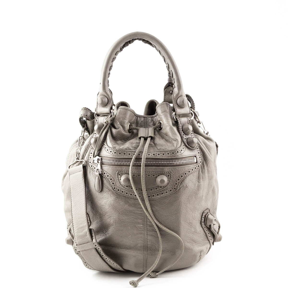 Balenciaga Galet Lambskin Giant Hardware Pom Pon Bag - LOVE that BAG -  Preowned Authentic Designer ... 17c12d4a7fd05