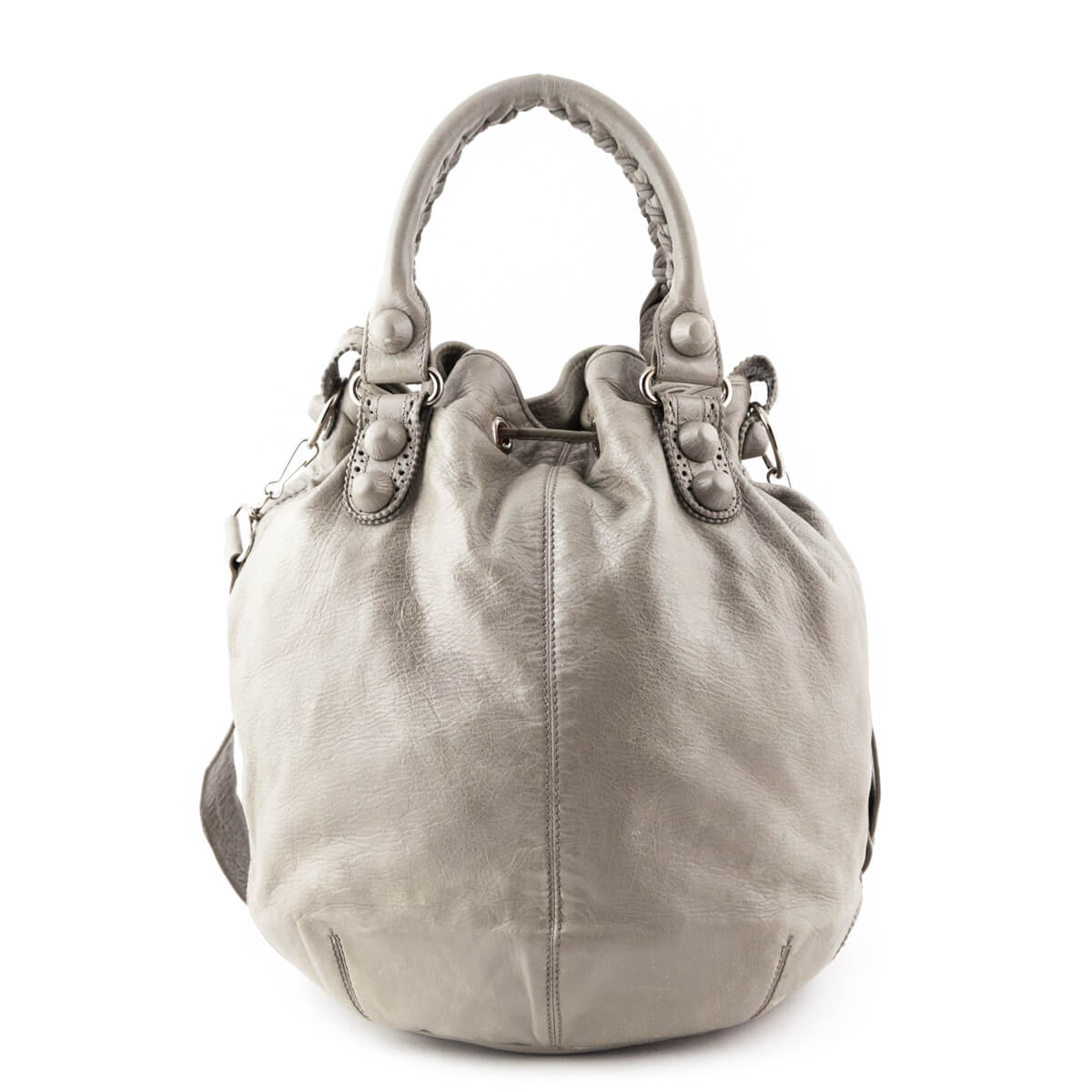 ... Balenciaga Galet Lambskin Giant Hardware Pom Pon Bag - LOVE that BAG -  Preowned Authentic Designer ... 6ed48d76ff07e