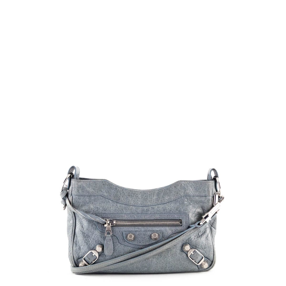 60855d0a9 Balenciaga Tempete Lambskin Giant 12 Silver Hip Bag - LOVE that BAG -  Preowned Authentic Designer ...