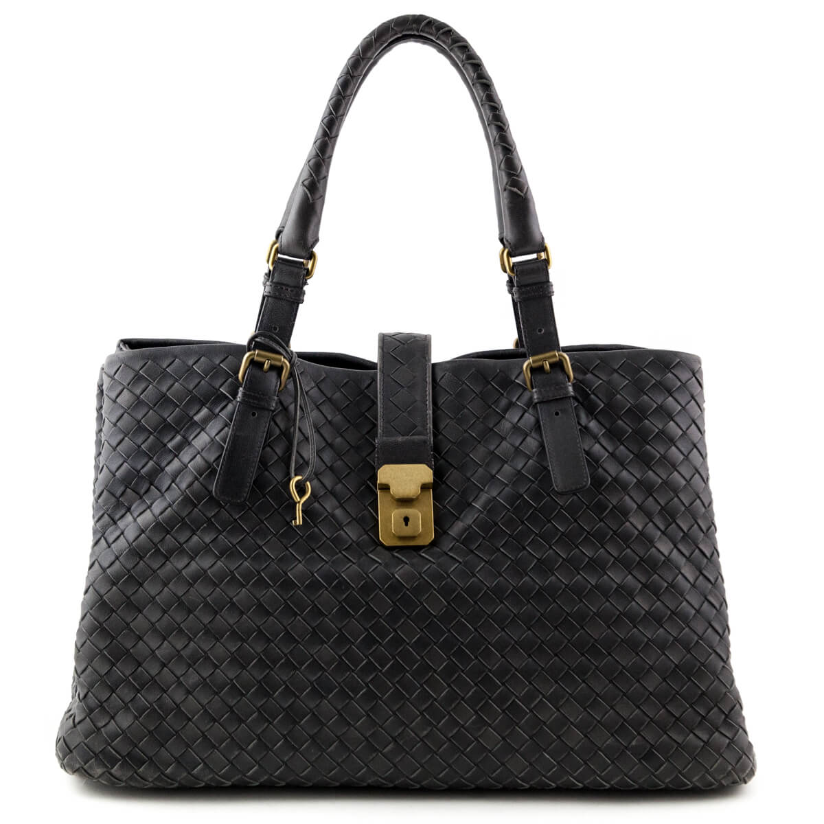 Bottega Veneta Ferro Intrecciato Large Roma Bag - LOVE that BAG - Preowned  Authentic Designer Handbags ... 2aa3ea1bd8c64