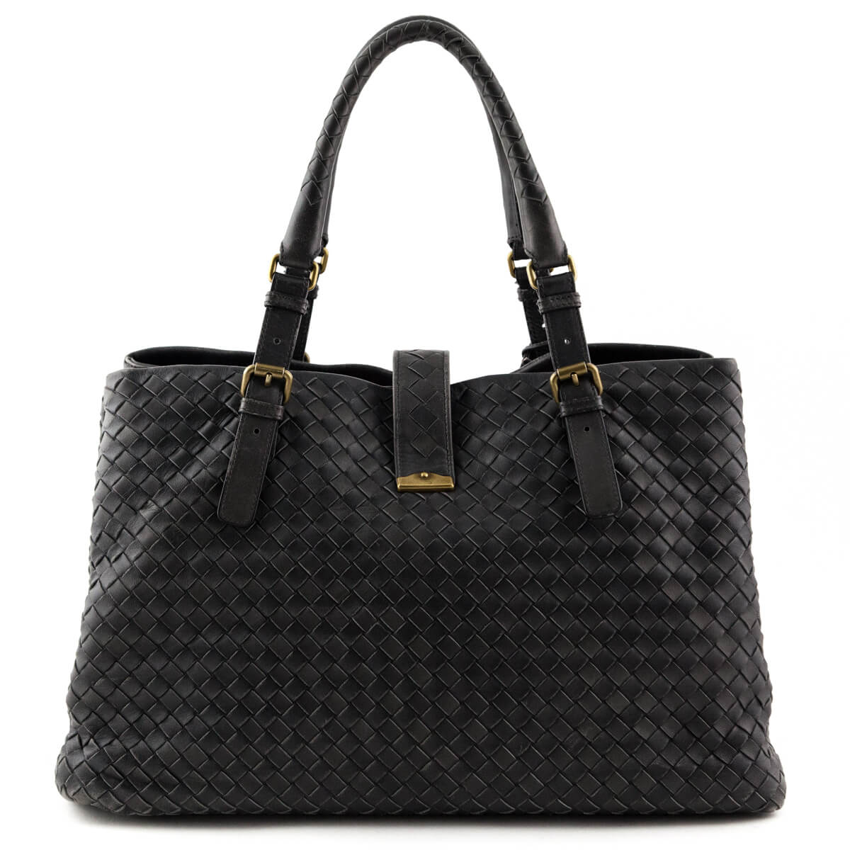 ... Bottega Veneta Ferro Intrecciato Large Roma Bag - LOVE that BAG -  Preowned Authentic Designer Handbags ... 852207d015555