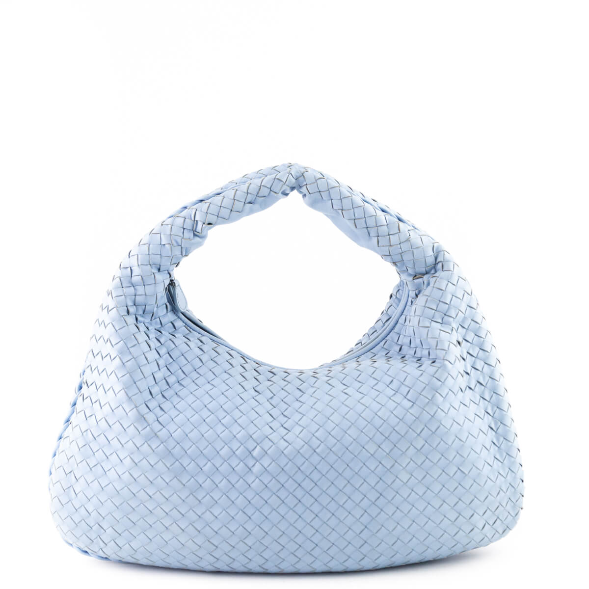 99f9b0c57b Bottega Veneta Light Blue Intrecciato Nappa Large Veneta Bag - LOVE that BAG  - Preowned Authentic ...