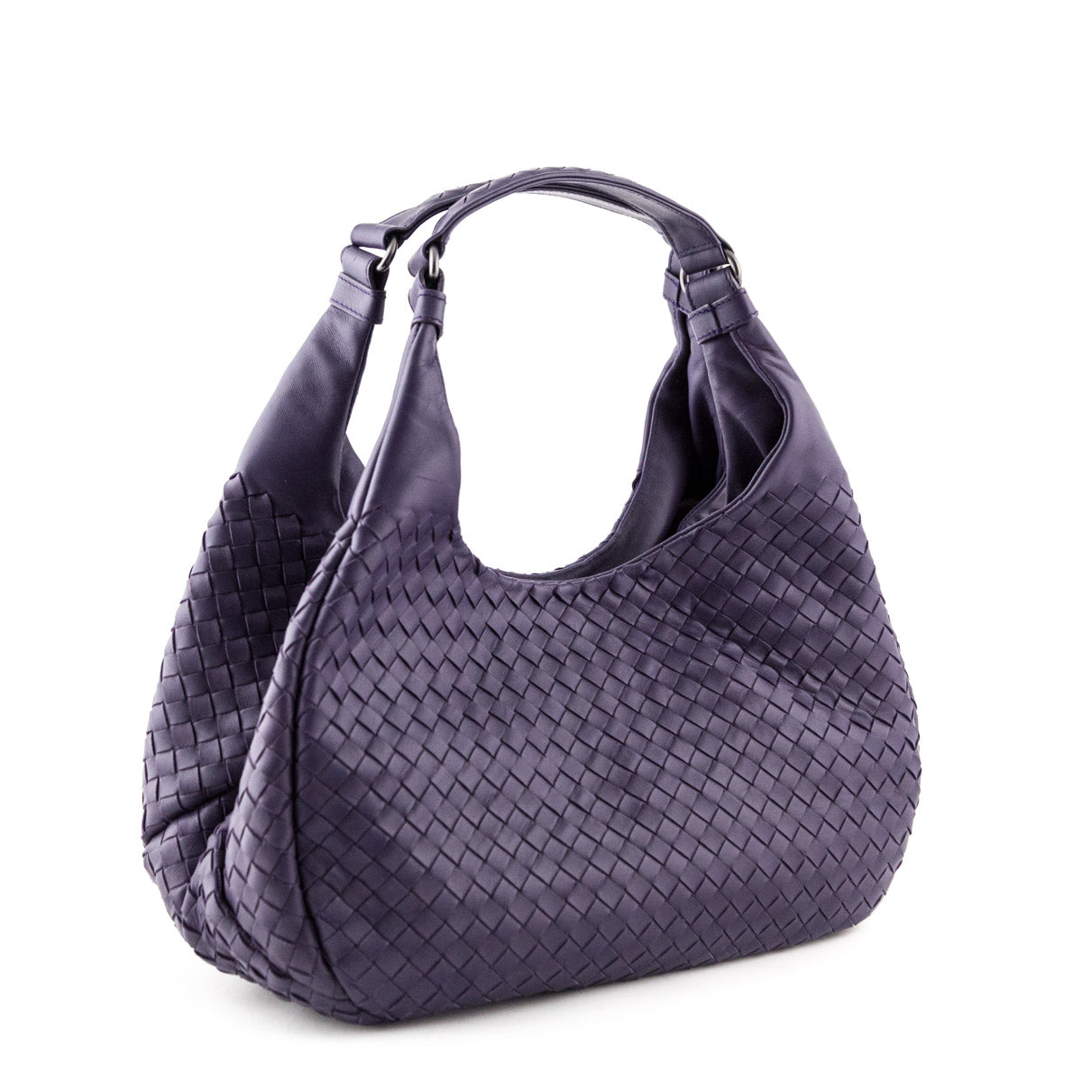 7ee99f8d31 ... Bottega Veneta Plum Intrecciato Napa Medium Campana Bag - LOVE that BAG  - Preowned Authentic Designer ...