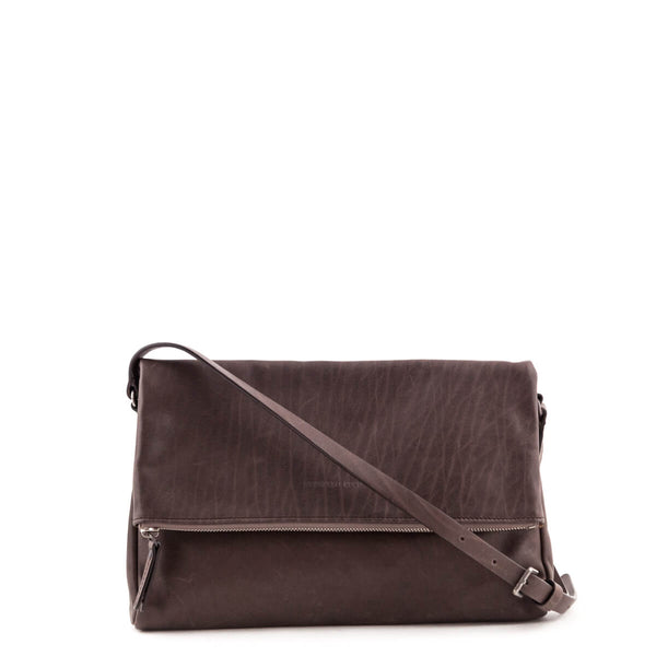 30a79f60154b5b Brunello Cucinelli Leather Fold Over Bag - LOVE that BAG - Preowned  Authentic Designer Handbags