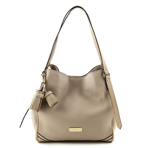 520b895bf90d Burberry Beige Leather Canterbury Tassel Tote w  Pouch - LOVE that BAG - Preowned  Authentic