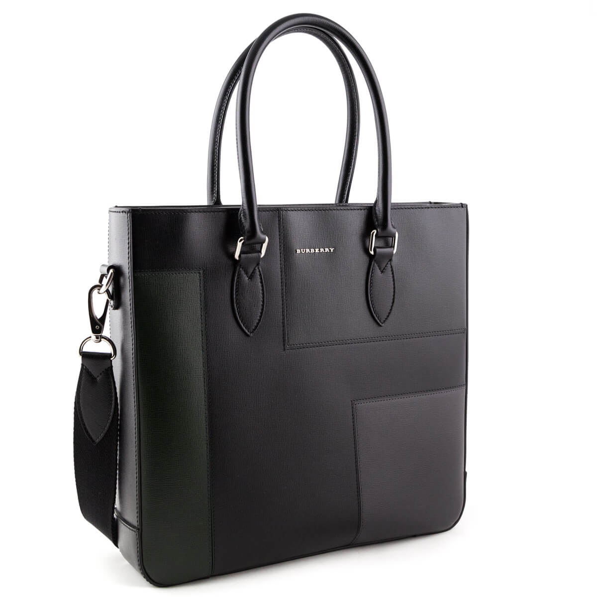 d8e47bc9ed84 ... Burberry Black Patchwork Leather Tote - LOVE that BAG - Preowned  Authentic Designer Handbags ...