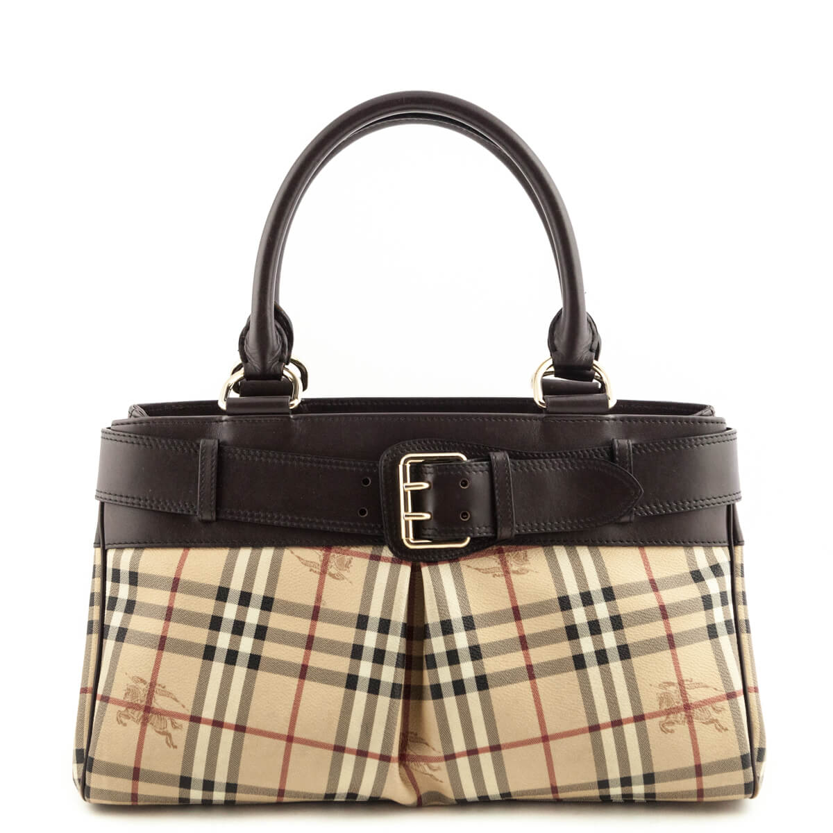 1440a209c394 Burberry Haymarket Check Leather-Trimmed Buckle tote - LOVE that BAG -  Preowned Authentic Designer ...