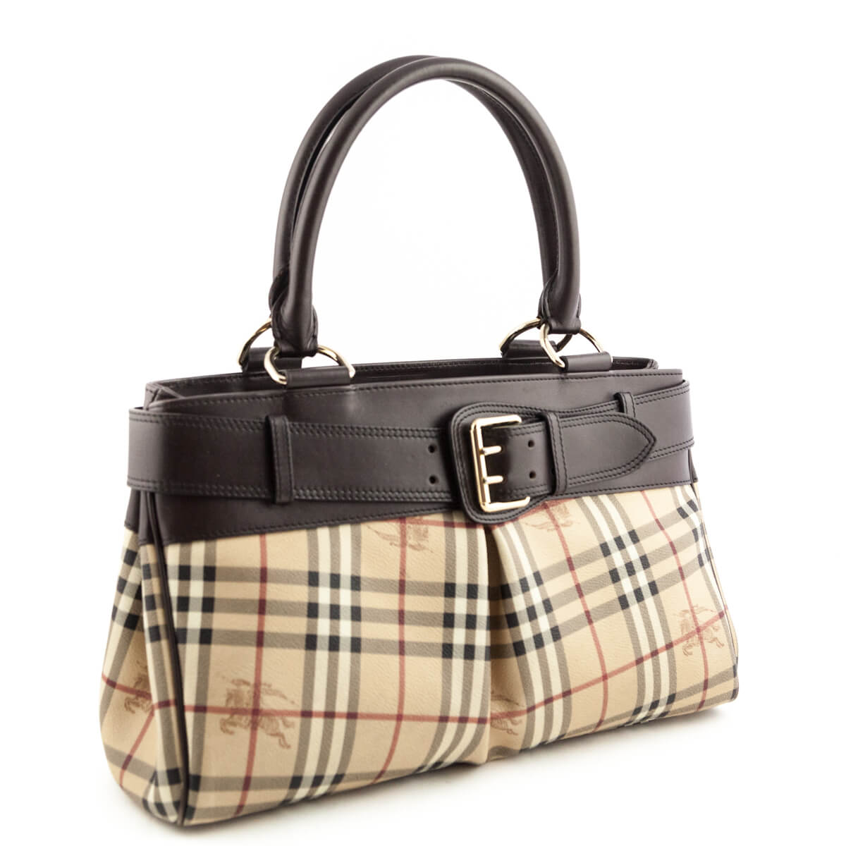 ... Burberry Haymarket Check Leather-Trimmed Buckle tote - LOVE that BAG - Preowned  Authentic Designer ... 6028887e32fde