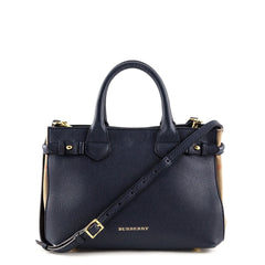 Burberry Ink Blue Small Banner Bag - 1