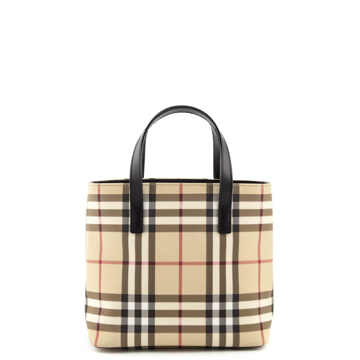5ab62a5f3e97 Burberry Nova Check Coated Canvas Small Tote Bag - LOVE that BAG - Preowned  Authentic Designer ...