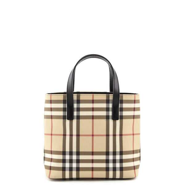 c98056d6b64d Burberry Nova Check Coated Canvas Small Tote Bag - Burberry Bags