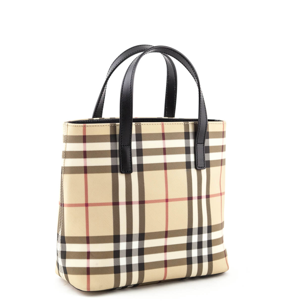 0b14225ed5 ... Burberry Nova Check Coated Canvas Small Tote Bag - LOVE that BAG -  Preowned Authentic Designer ...
