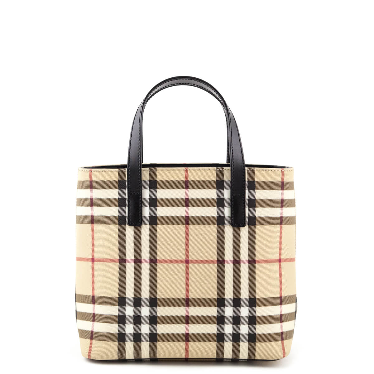 a2b422e22c2e ... Burberry Nova Check Coated Canvas Small Tote Bag - LOVE that BAG -  Preowned Authentic Designer ...