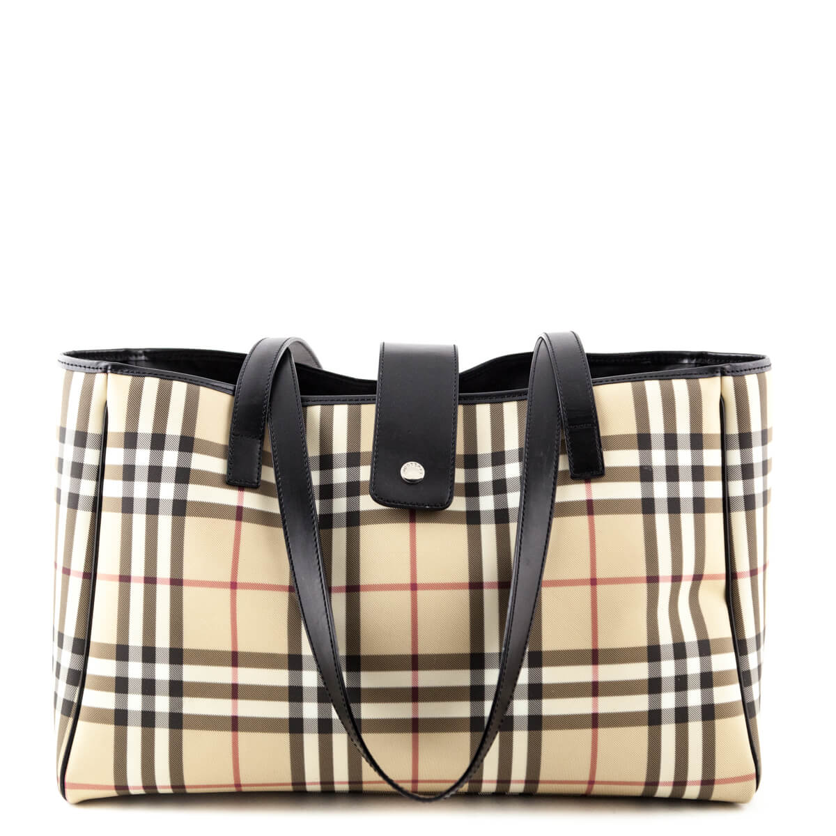24a430e41bd9 Burberry Nova Check Coated Canvas Tote - LOVE that BAG - Preowned Authentic  Designer Handbags ...