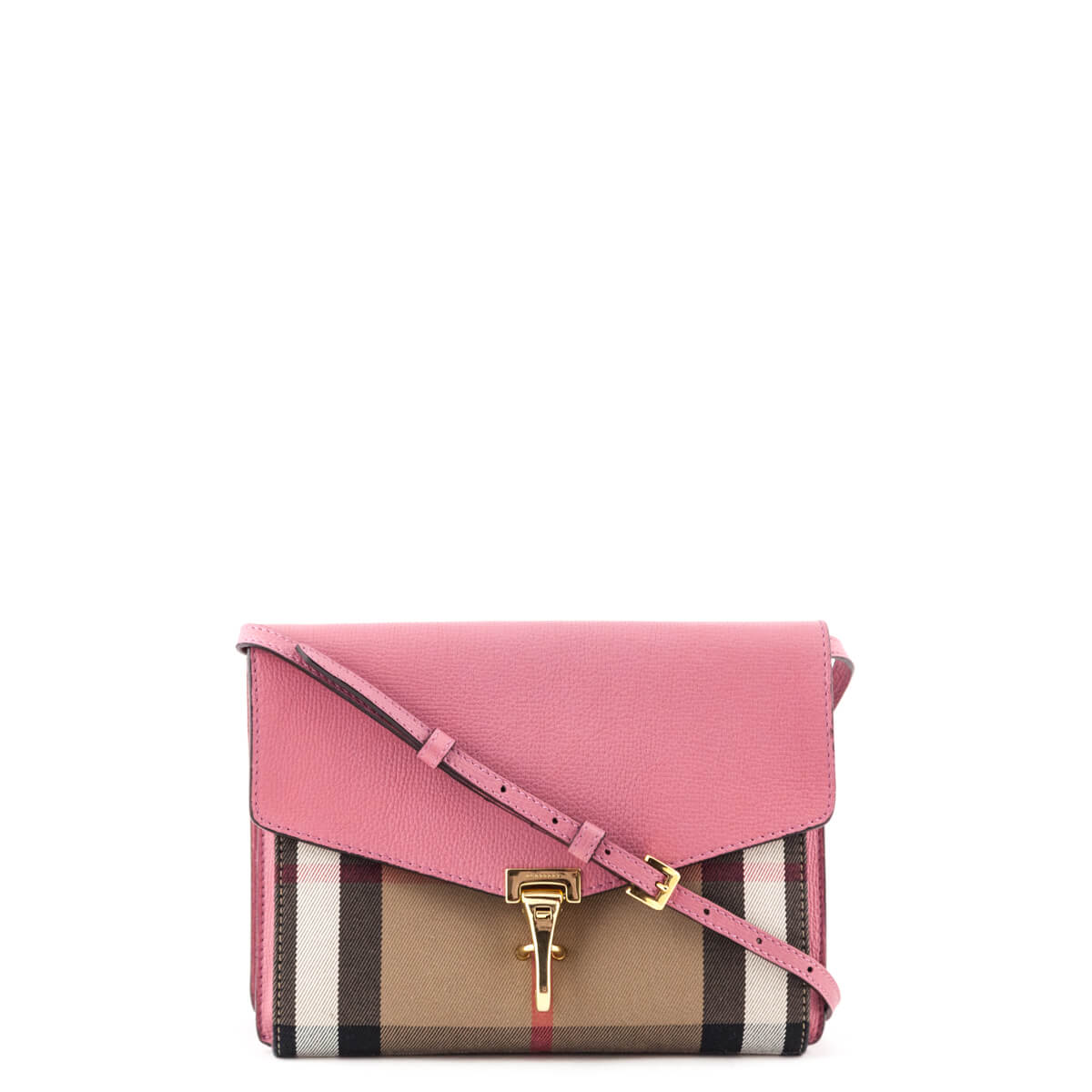 c2a1aa49d186 Burberry Pink Calfskin and House Check Small Crossbody Bag - LOVE that BAG  - Preowned Authentic ...
