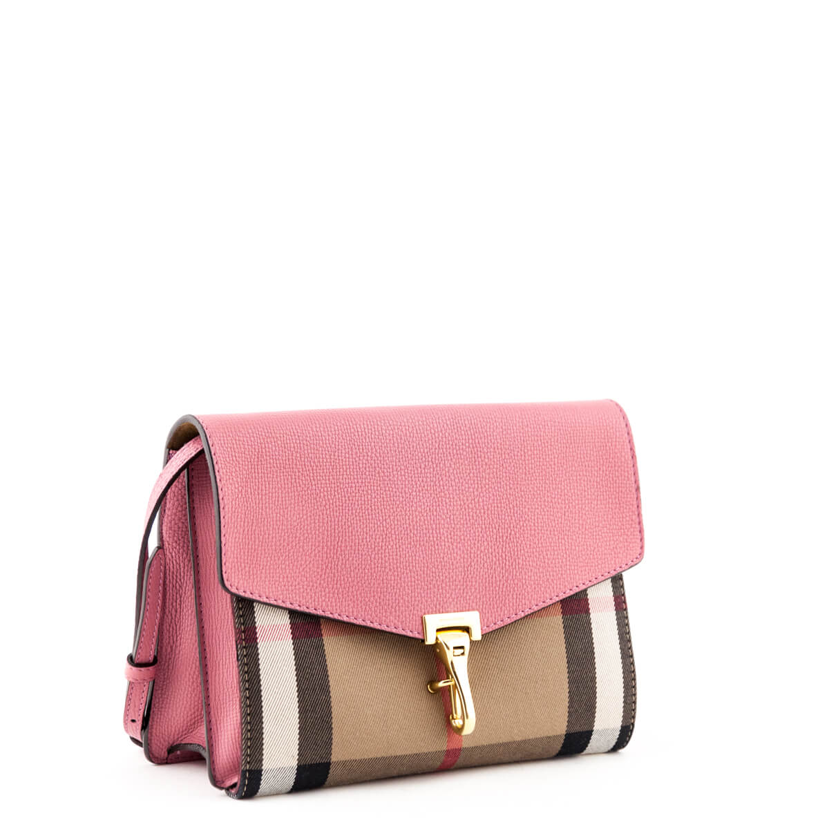 c3896bbcb0a3 ... Burberry Pink Calfskin and House Check Small Crossbody Bag - LOVE that  BAG - Preowned Authentic ...
