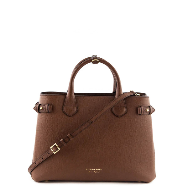 a098a0301c9 Burberry Tan Brown Medium Banner Bag - Authentic Burberry Bags for Less
