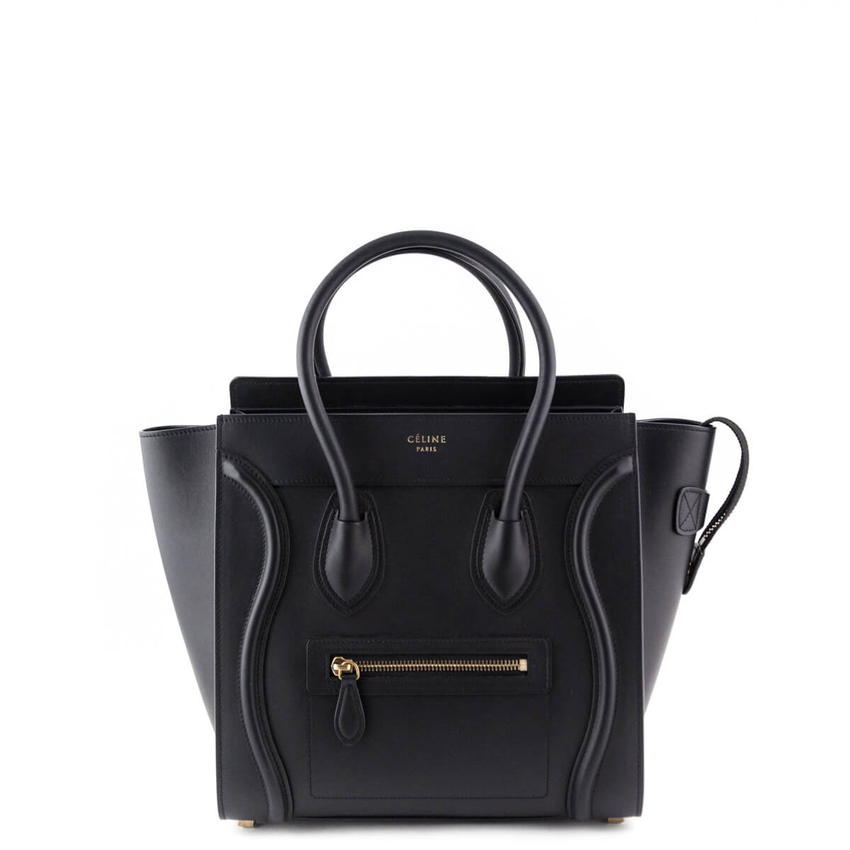 Celine Black Calfskin Micro Luggage Tote - LOVE that BAG - Preowned  Authentic Designer Handbags ... 1f7518d14e2e5