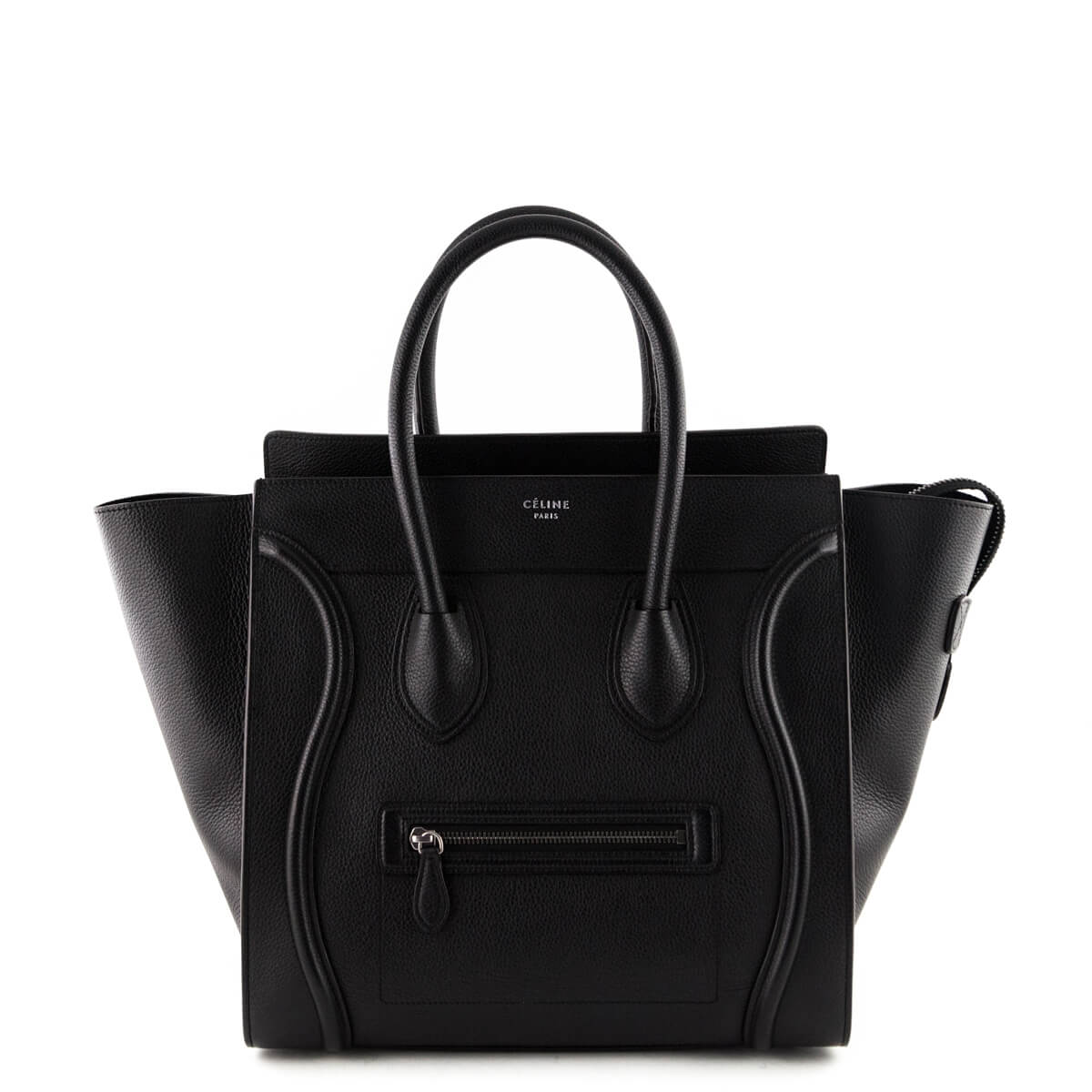 d0c2ffd932 Celine Black Calfskin Mini Luggage Tote - LOVE that BAG - Preowned Authentic  Designer Handbags ...
