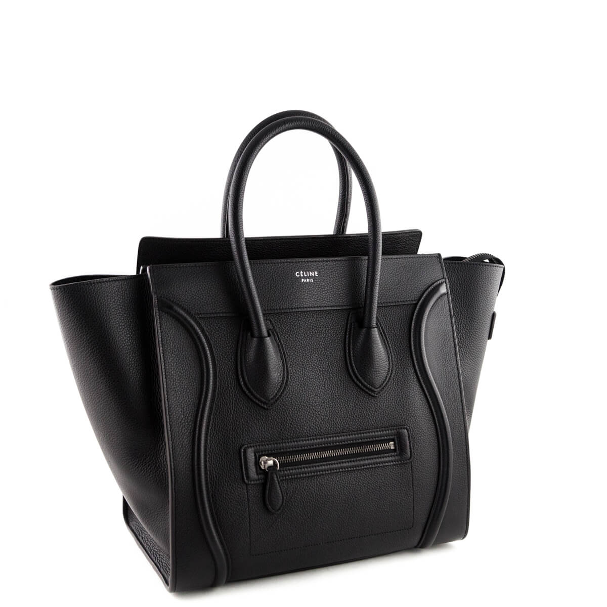 6a560d34a683 ... Celine Black Calfskin Mini Luggage Tote - LOVE that BAG - Preowned  Authentic Designer Handbags ...