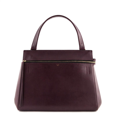 Celine Burgundy Calfskin Large Edge