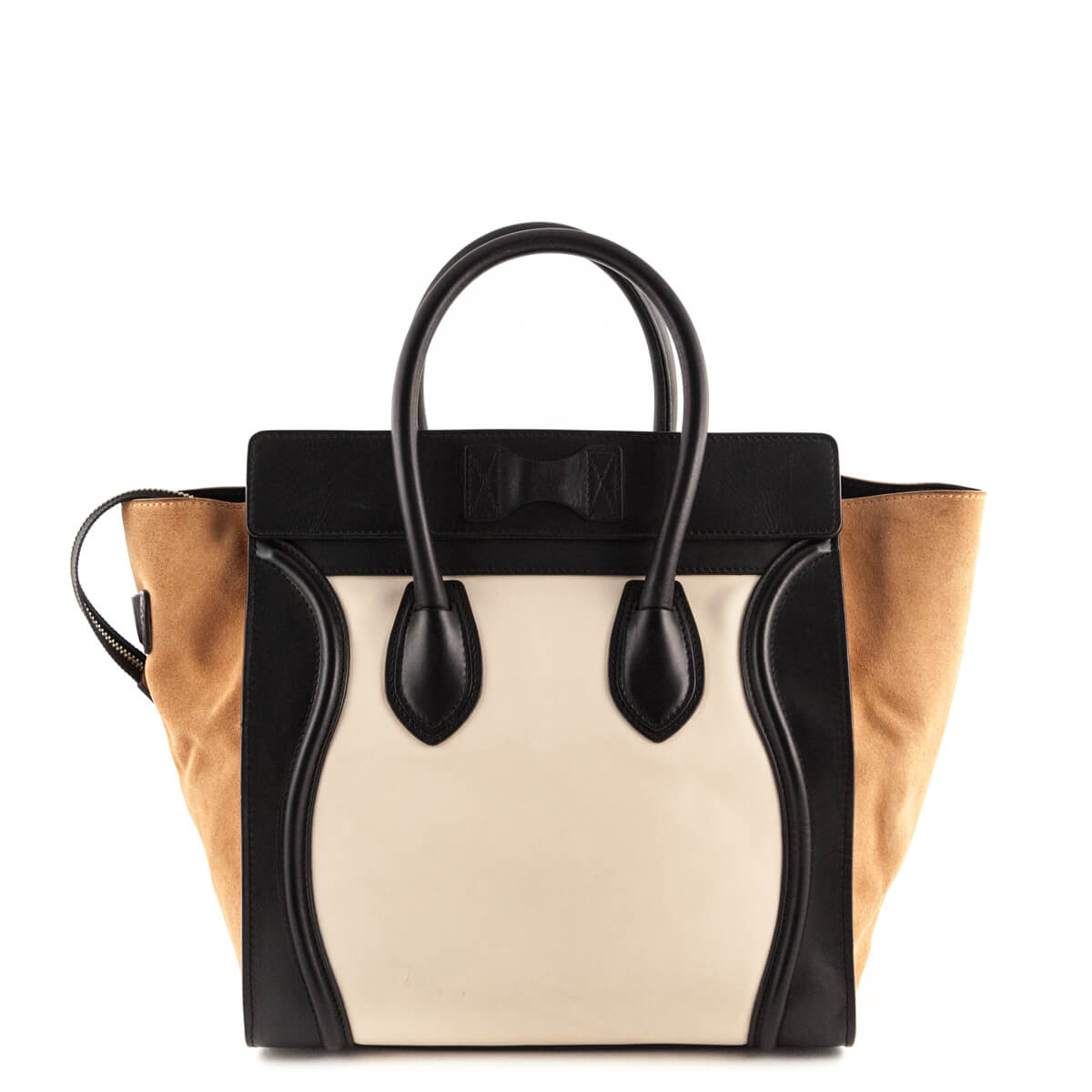 ... Celine Caramel Tricolor Calfskin and Suede Mini Luggage - LOVE that BAG  - Preowned Authentic Designer ... 20ed8fcb8c673