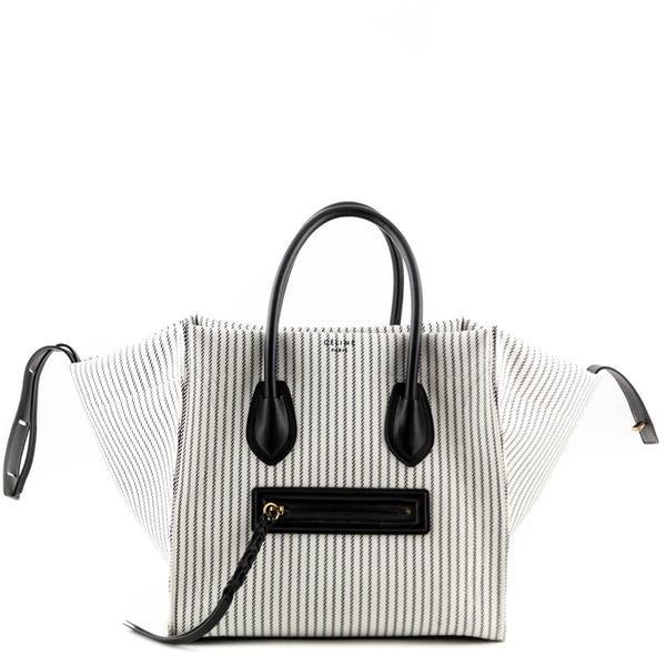16e1dec3bb Celine Cotton Canvas Striped Medium Phantom Luggage Bag - LOVE that BAG -  Preowned Authentic Designer