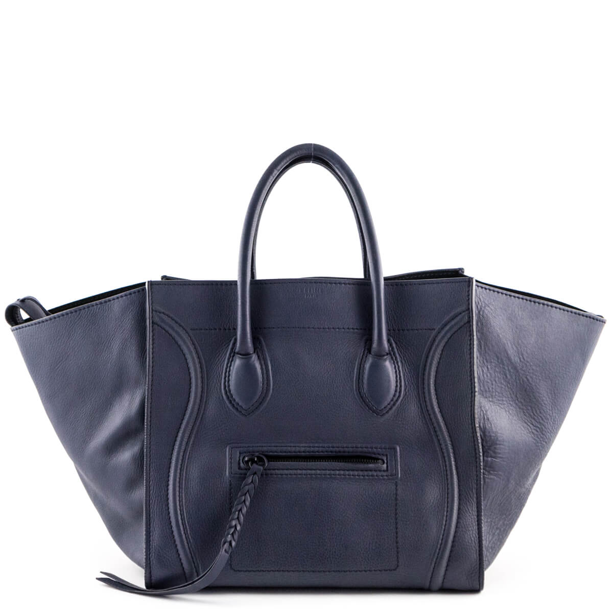b9488c12d8e7 Celine Dark Blue Calfskin Medium Phantom - LOVE that BAG - Preowned  Authentic Designer Handbags ...