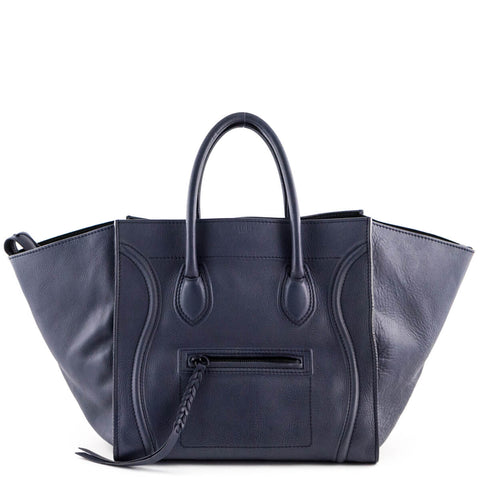 Celine Dark Blue Calfskin Medium Phantom
