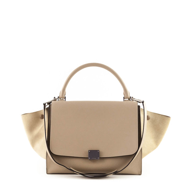 aa6991692d3e Celine Dune Suede   Calfskin Medium Trapeze - LOVE that BAG - Preowned  Authentic Designer Handbags