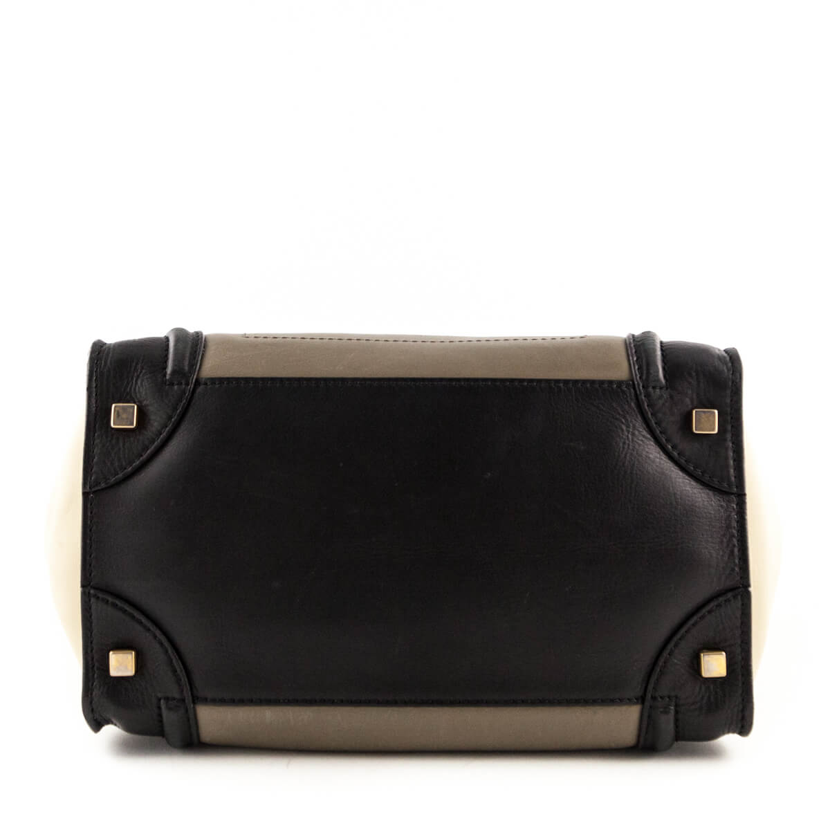 2a0079cfed7b ... Celine Olive Tricolor Calfskin Mini Luggage - LOVE that BAG - Preowned  Authentic Designer Handbags ...