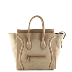 Celine Sahara Suede and Leather Mini Luggage Tote