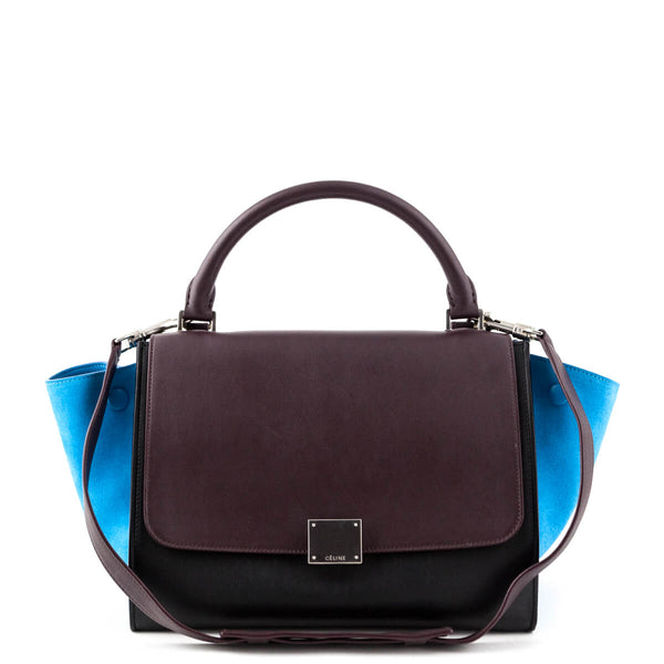 8c7d758977c2 Celine Tricolor Calfskin and Suede Small Trapeze Bag - LOVE that BAG -  Preowned Authentic Designer