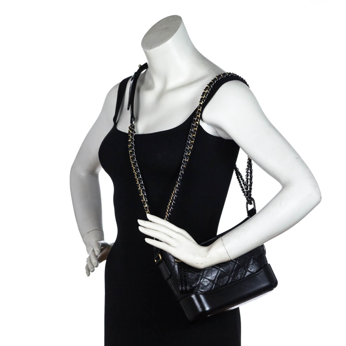0109f205ef0f ... Chanel Black Aged Calfskin Small Gabrielle Hobo Bag - LOVE that BAG - Preowned  Authentic Designer