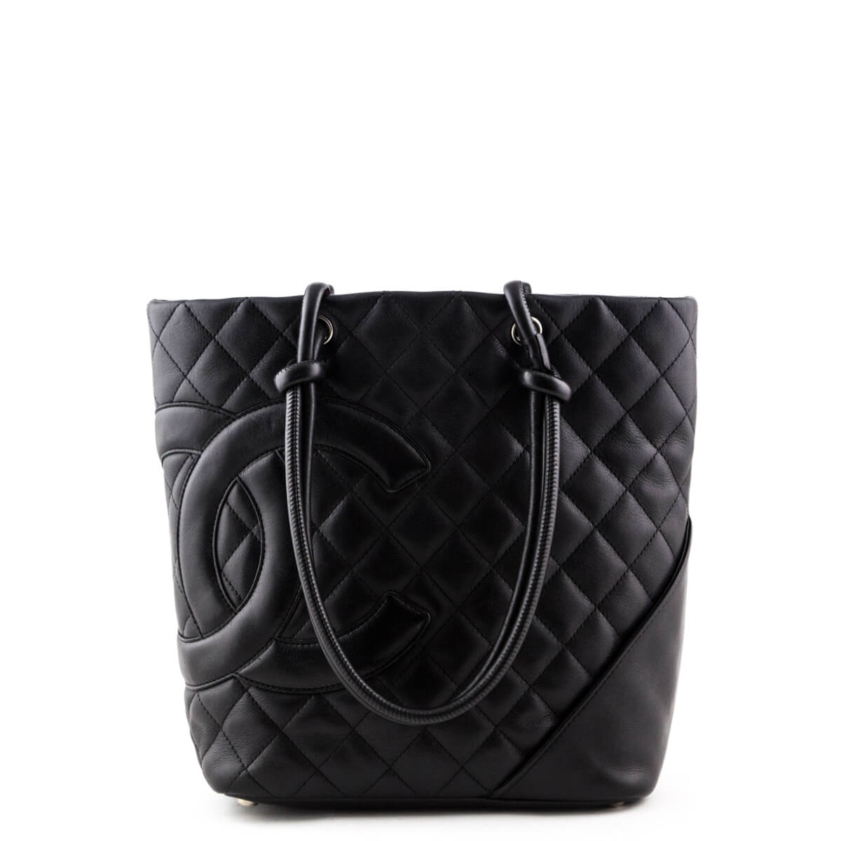 8205a2e74eb5 Chanel Black Calfskin Medium Cambon Ligne Bucket Tote - LOVE that BAG -  Preowned Authentic Designer ...